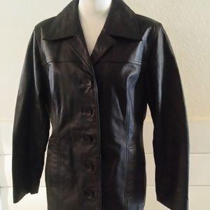 Jacqueline Ferrar Leather Jacket Blazer